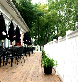 clubhouse outdoor patio footer