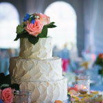 Beautiful Cake at Bogey's Wedding Reception Hall