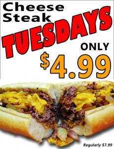 Cheese Steak Tuesdays